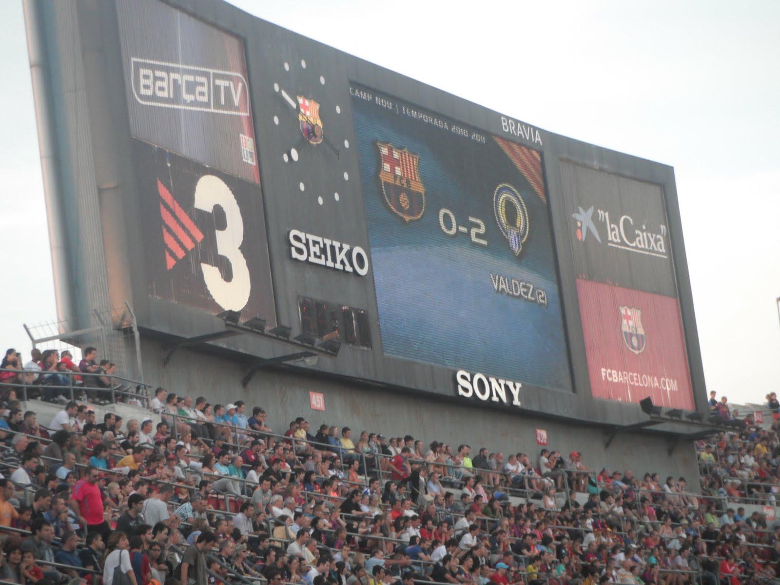 Marcador Camp Nou 0-2