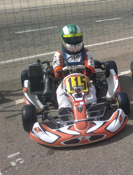 Circuito Zuera : Dani maciá acaricia el podio en la prueba de karting