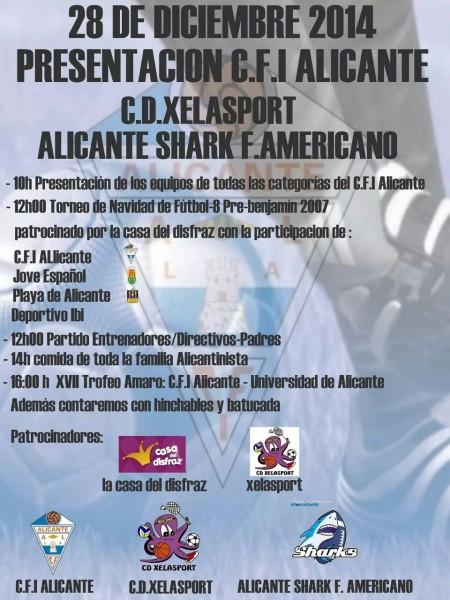 Cartel presentación Alicante